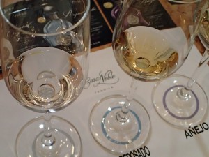 Tequila tasting at Casa Noble.
